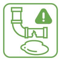 Check for leaks in pipes